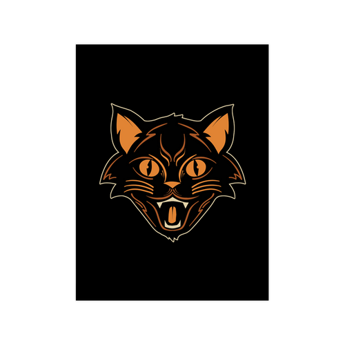 Halloween Cat 9x12 Screen Print