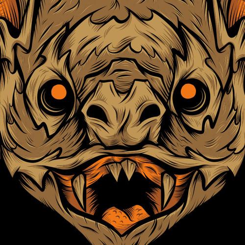 Vampire Bat T-Shirt by Seventh.Ink