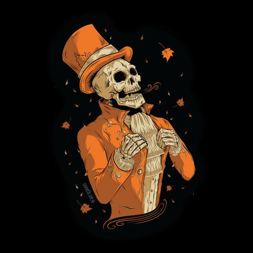 """Victorian Autumn 5.7"""" Die Cut Sticker"""