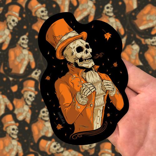 """Victorian Autumn 5.7"""" Die Cut Sticker by Seventh.Ink"""