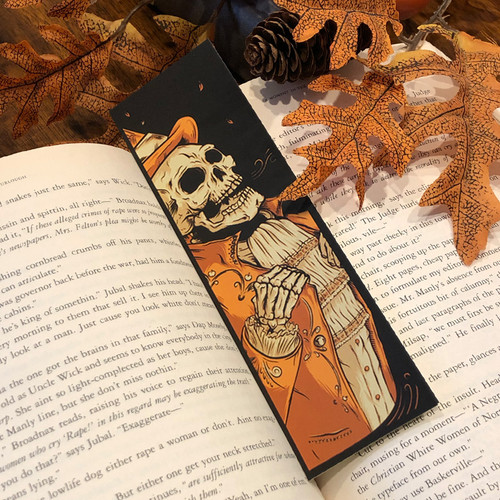Victorian Autumn Screen Printed Bookmark