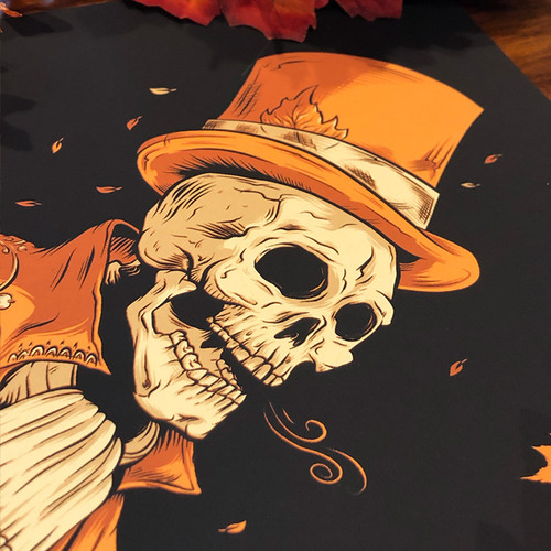 Victorian Autumn 9x12 Screen Print by Seventh.Ink