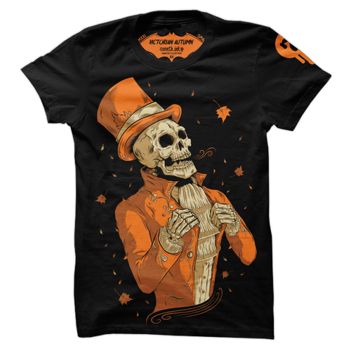 Victorian Autumn T-Shirt by Seventh.Ink