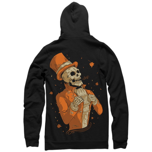 Victorian Autumn Zip-Up Hoody by Seventh.Ink