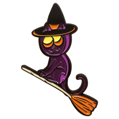 Witch Cat Enamel Pin (Guest Art by Daughter Jade Johnson)