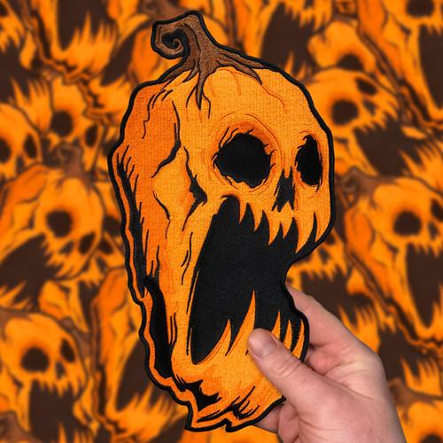 "Huge Screaming Pumpkin 12"" Back Patch by Seventh.Ink"