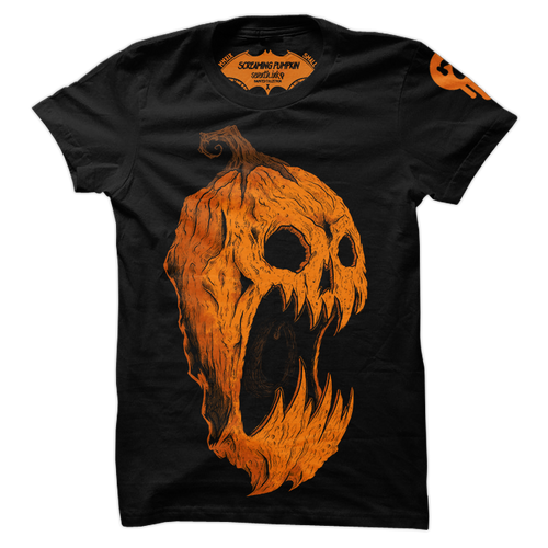 Screaming Pumpkin Re-Inked Shirt by Seventh.Ink
