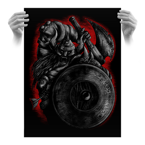Sixth Anniversary Viking 18x24 Screen Print