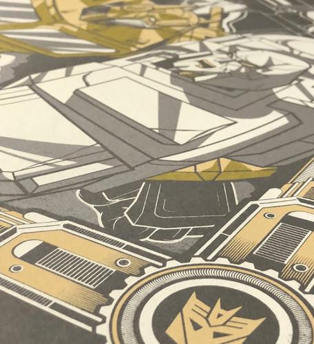 Transformers 18x24 AP Print on Steel Grey