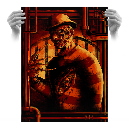 Freddy Krueger 18x24 Screen Print