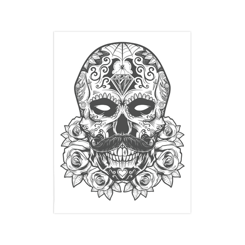 Debonair Sugar Skull 9x12 Screen Print