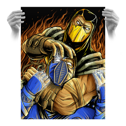 Mortal Kombat 18x24 AP Screen Print