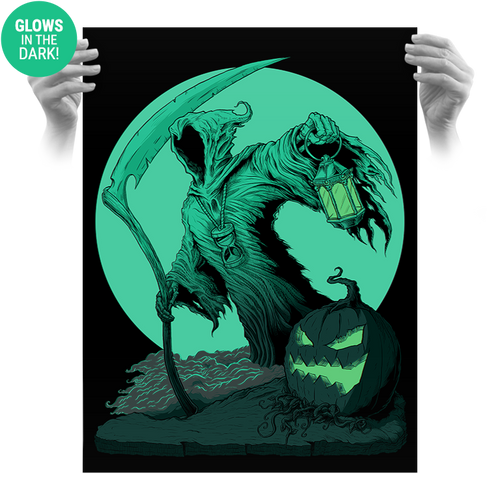 The Reaper 18x24 Screen Print - Glows!