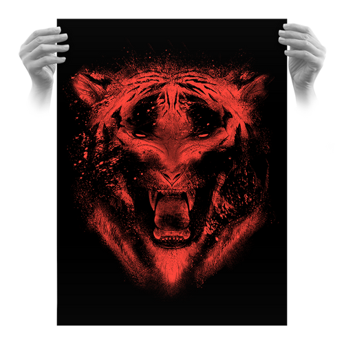 Eighth Anniversary Tiger 18x24 Rage Variant (Only 10 Made)