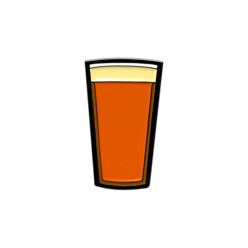 IPA Beer Pint Enamel Pin by Seventh.Ink