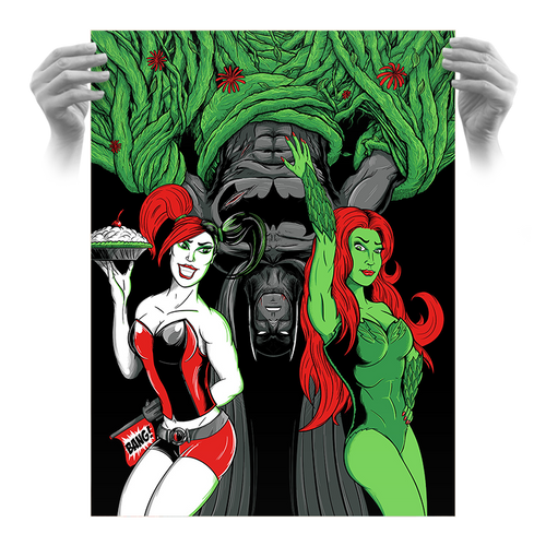 Batman: Sirens 18x24 AP Screen Print by Seventh.Ink