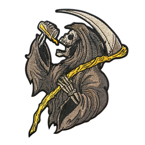 Large Drinkin' Reaper Patch by Seventh.Ink