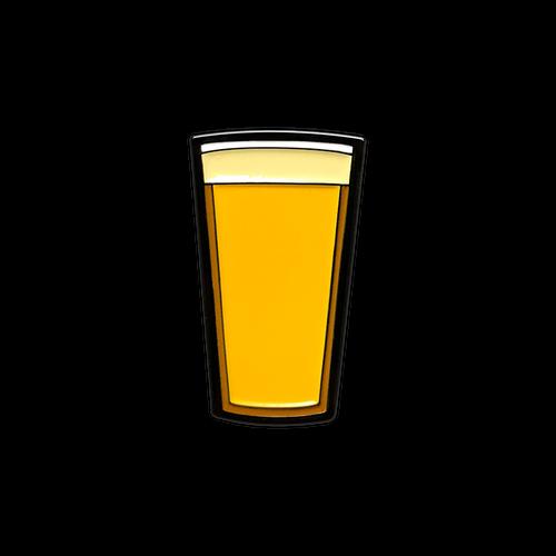 Pilsner Beer Pint Enamel Pin by Seventh.Ink