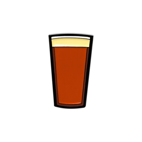 Red Beer Pint Enamel Pin