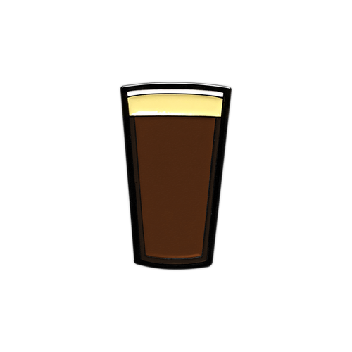 Stout Beer Pint Enamel Pin