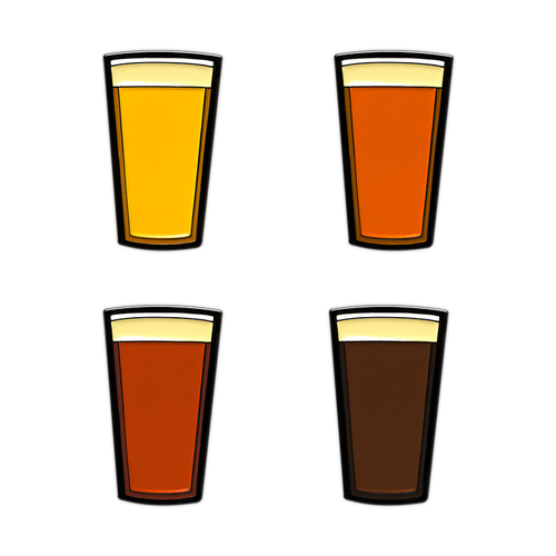 Beer Pints enamel pin set by Seventh.Ink