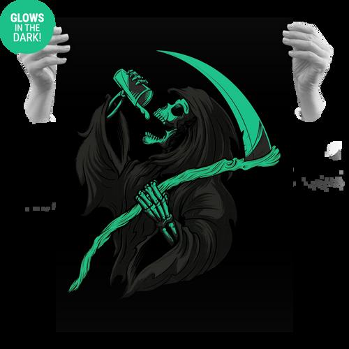 Drinkin' Reaper 18x24 Screen Print - Glows!