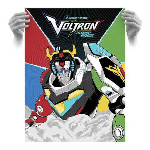 Dreamworks Voltron Official 18x24 AP Screen Print