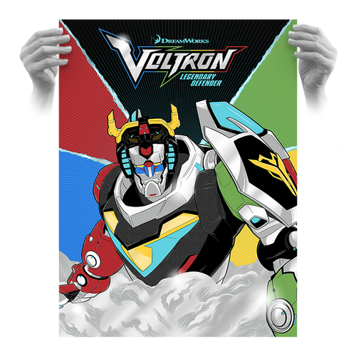 Dreamworks Voltron Official 18x24 AP Screen Print Foil Variant