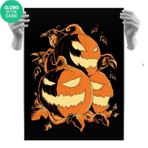 Haunted Harvest 3 18x24 Screen Print - Glows!