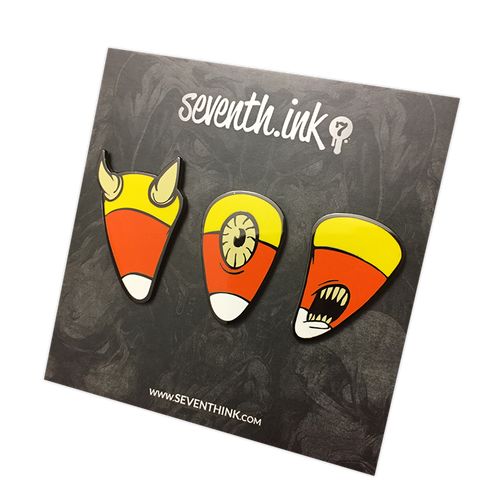 Candy Corn Enamel Pin Set by Seventh.Ink