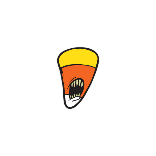 Candy Corn enamel pin by Seventh.Ink