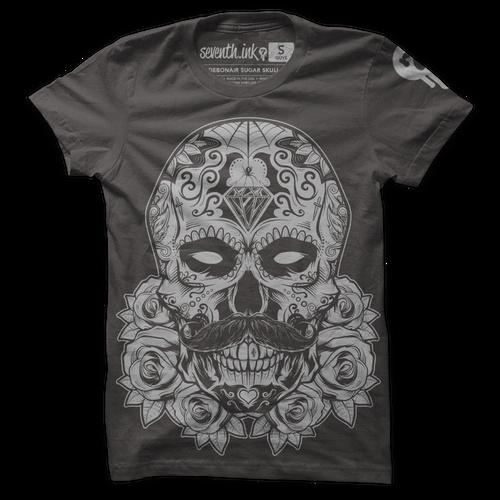 Debonair Sugar Skull shirt by Seventh.Ink