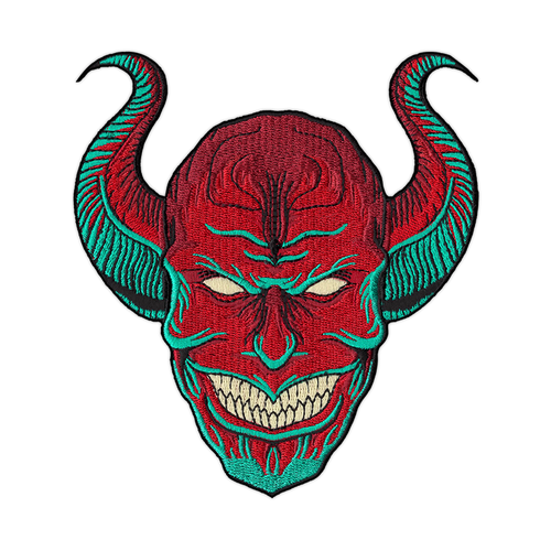 Grinning Djinn Embroidered Patch by Seventh.Ink