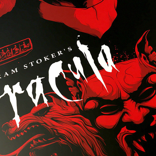 Dracula 12x24 Blood Red Variant AP Screen Print
