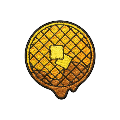 Dripping Waffle Embroidered Patch by Seventh.Ink