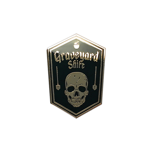 Graveyard Shift Enamel Pin by Seventh.Ink