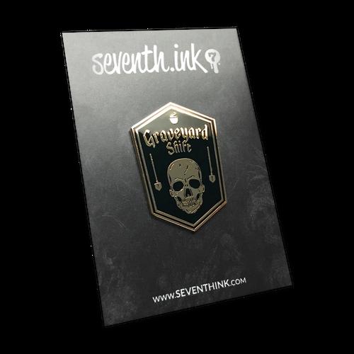 Graveyard Shift Enamel Pin by Seventh.Ink