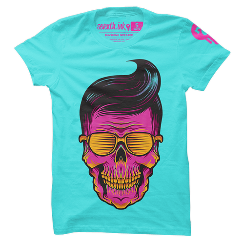 Sunshine Greaser skull shirt by Seventh.Ink