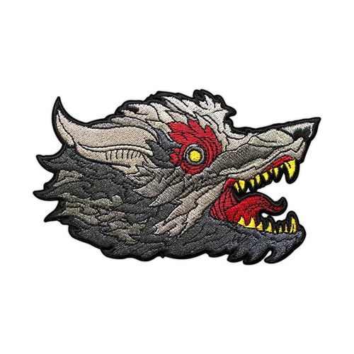 Blood Wolf Patch by Seventh.Ink