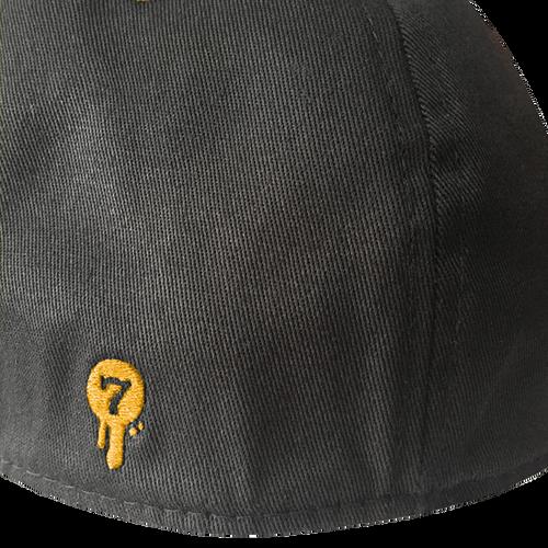 Seventh.Ink Black/Gold/White Flex Fit Hat