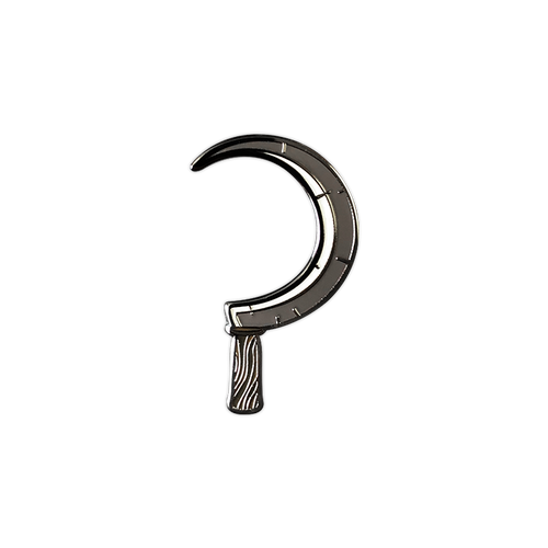 Sickle Enamel Pin