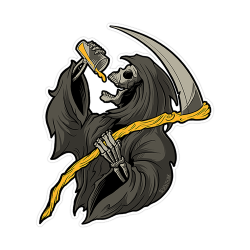 Drinkin' Reaper Die Cut Sticker