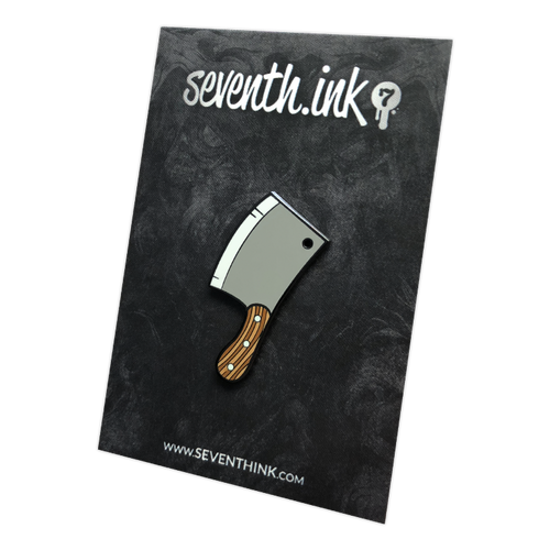 Cleaver Enamel Pin by Seventh.Ink