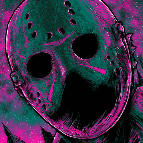 9x12 Twilight Voorhees Screen Print - Timed Edition - GLOWS!