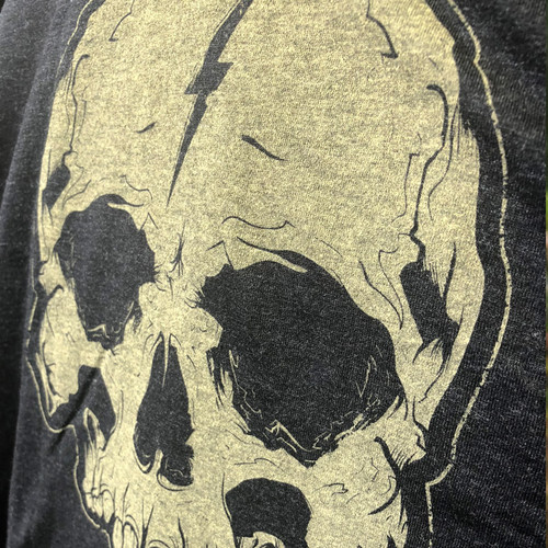 Gold Lightning Skull shirt by Seventh.Ink