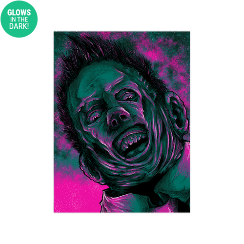 9x12 Twilight Leatherface Screen Print - GLOWS!