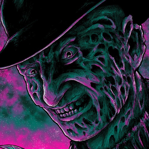 9x12 Twilight Krueger Screen Print - GLOWS!