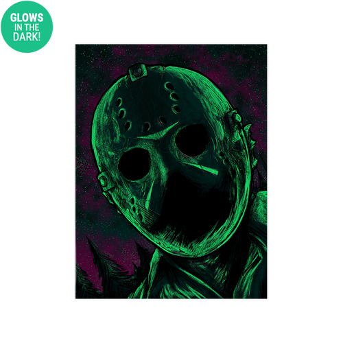 9x12 Twilight Jason Voorhees Screen Print - Glows!