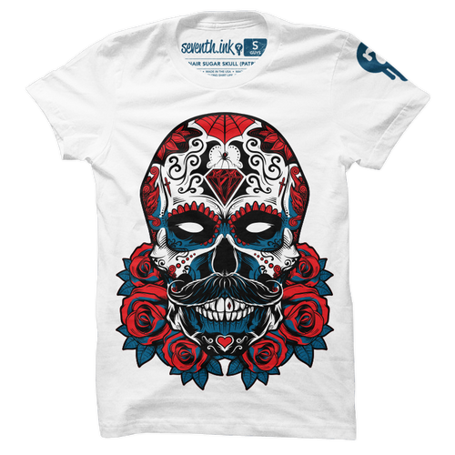 Debonair Sugar Skull shirt by Seventh.Ink