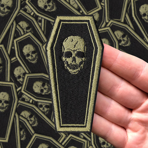 Black/Gold Coffin patch by Seventh.Ink